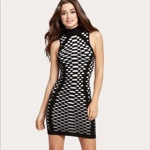 Guess Alastair Mock Neck Midi Dress